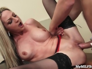 Hot MILF Boss Gets Fucked On Her Desk!