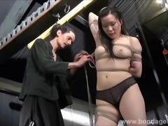Devils asian suspension bondage and kinky fetish of tied up japanese beauty...