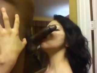 Grizzled Latina Mother Sucks Black Cock In The Kitchen WHERE SHE BELONGS!!!