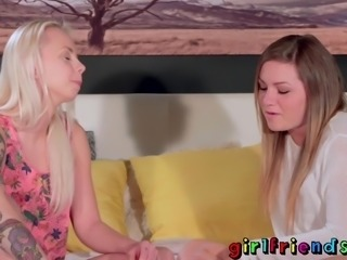 Girlfriends shaved lesbian lovers intimate romance