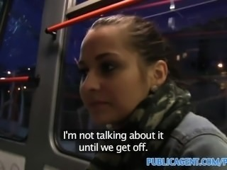 PublicAgent Emily is bribed by a fake ticket inspector for sex