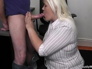 Hot blonde secretary office fuck