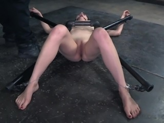 Rita Rollins couldn't move her hands or legs. She was tied up in spread-eagle...