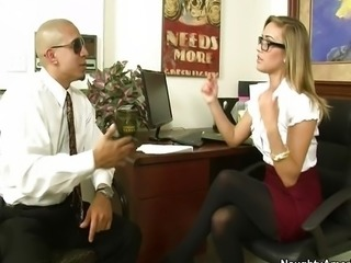 Kennedy Leigh Gets Fucked In The Office