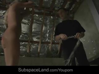 Underwater ruthless bondage punishment for busty slave