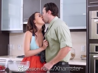 Passion-HD - Half naked cooking cutie Dillion Harper fucked