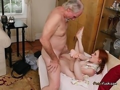 Redhead Teen Dolly Little Sucks And Fucks Rich Old Guy