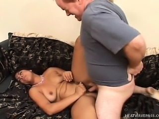 Bodacious Indian hottie Rama enjoys her time between two stiff cocks