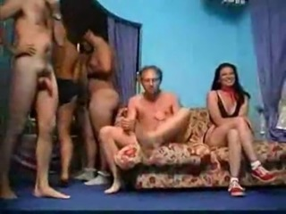 Vintage Gangbang: Miriam (Myriam) Gold and friends