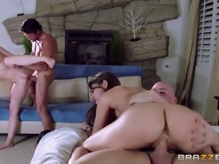Double dating couple decides that wife swapping would be fun