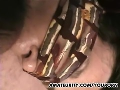 Amateur mom homemade anal fuck with facial shot
