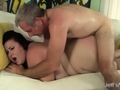 Curvaceous lady Lynn gets pounded hard and sighs with intense pleasure