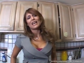 Horny MILF Has A Craving For Stepson's Big Black Cock!
