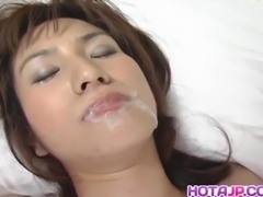 Hina sucks dick and has wet nooky fucked