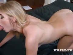 Tasty looking blond MILF Aria Logan gets doggy attacked rough