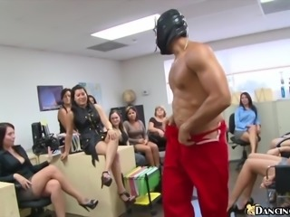 CFNM Office Blowjob Party