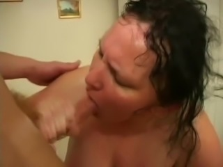Nice chubby mature hairy pussy and big tits