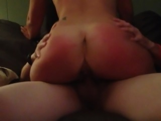 Fucking a hotwife while cuckold husband films