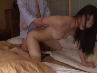 Kinky Asian girl banging her step brother late at night