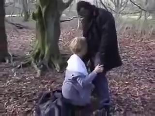 British granny fucking Christine outdoor