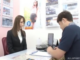 She always had a crush on her boss and today, she is going to suck him off,...