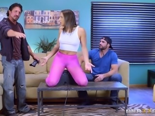 Destroying Abella's tight clothes in order to ravage her depths