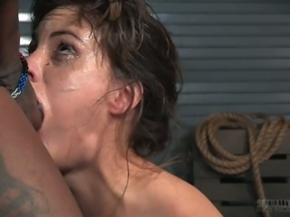 White pervert and BBC fuck tied up whore Devilynne