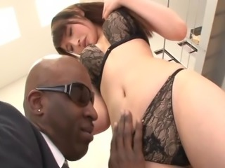 Asian with a foot fetish submits to a severe interracial sex in a close up shoot