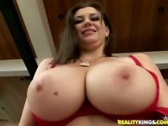 Big natural titted MILF fucked hard