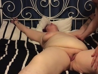 Amateur British BBW Redhead - Mrs Twochips Gets Tied Up