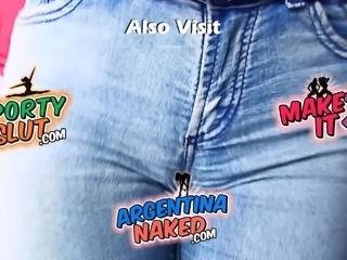 Cameltoe Jeans Perfect Body Latina! Ass, Tits, Pussy! Amazin