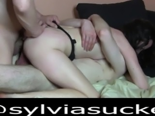 Wife First Time Shared - Amateur MMF DVP Threesome