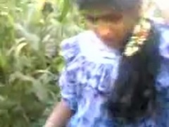I fuck exotic Indian whore in missionary style outdoors