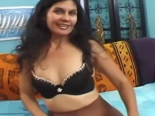 Sweet mom with saggy tits, hairy un & guy