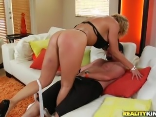 Horny mommy Brianna Beach sucks delicious hard dick