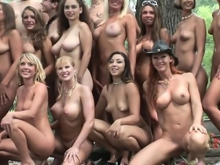 Sexy young starlets go wild and get undressed at this amazing party