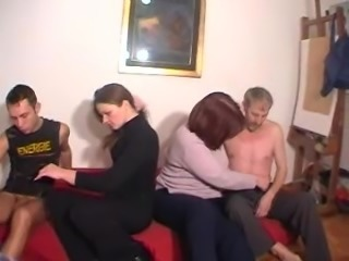 Kinky foursome action with lustful swinger couples