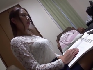 Asian in sexy white lace fucked as he films the action