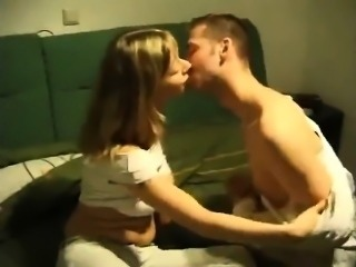 In family room blonde partner fucked