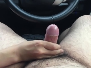 It is handjob in the inside of car