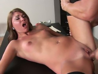 Dirty sweaty sex with handsome teacher in the college room
