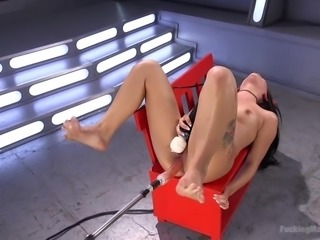 19 Year Old Gina Valentina gets Machine Fucked