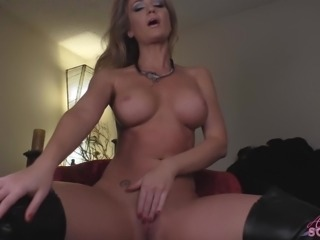 Angela Sommers hot strip and pussy fingering