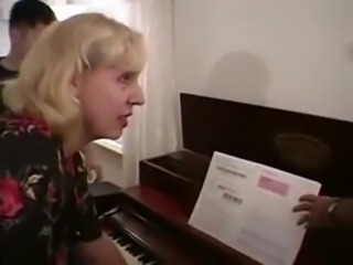 Mature piano teacher  double penetrated