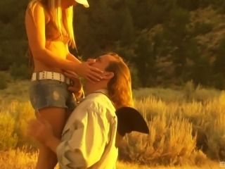 Giving the sexy Cassie Courtland a good bonking in the wilderness