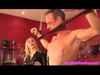 CBT mistress dominates over sub