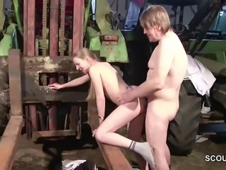 German Teen Seduce To Fuck by old Stranger Man