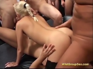 Horny german amateur girls in a extreme wild groupsex bukkake fuck party orgy