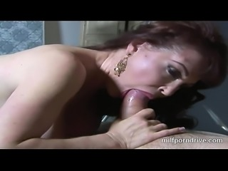 Horny Milf In Red Lingerie Is An Expert At Sucking And Fucking