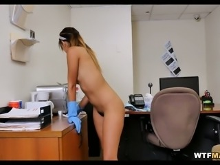My fine ass Latina maid has obviously no problem showing skin